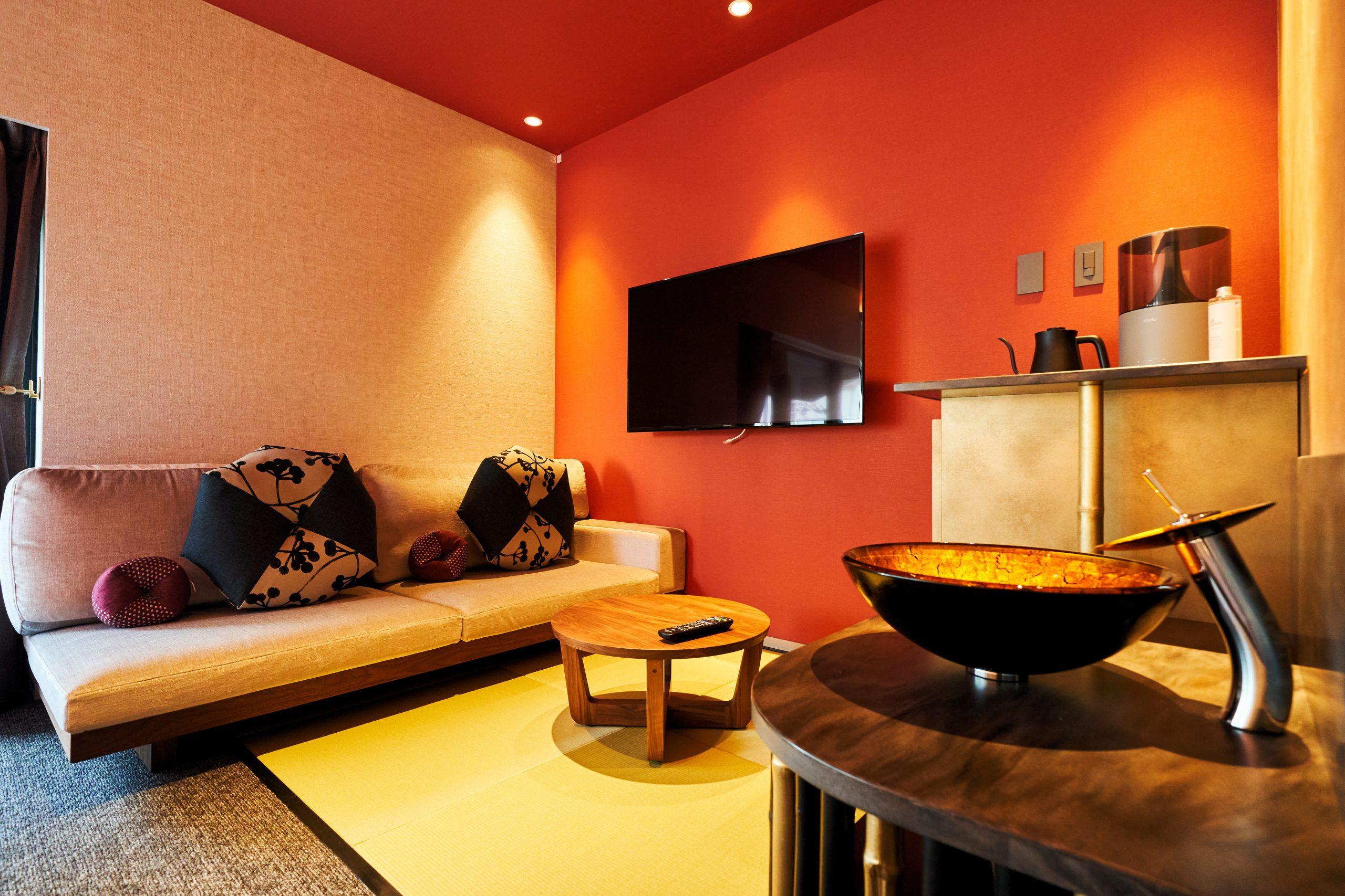 茶室をイメージしたパーティーシンク付畳コーナー